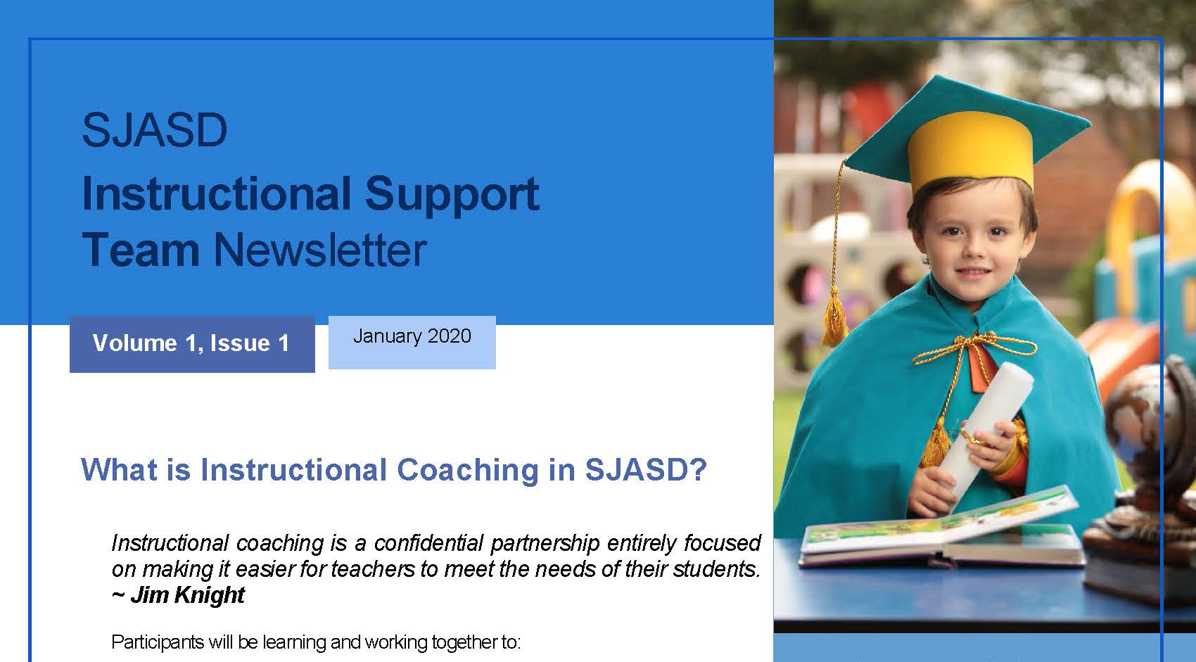 Supporting our teachers with the new Instructional Support Team Newsletter