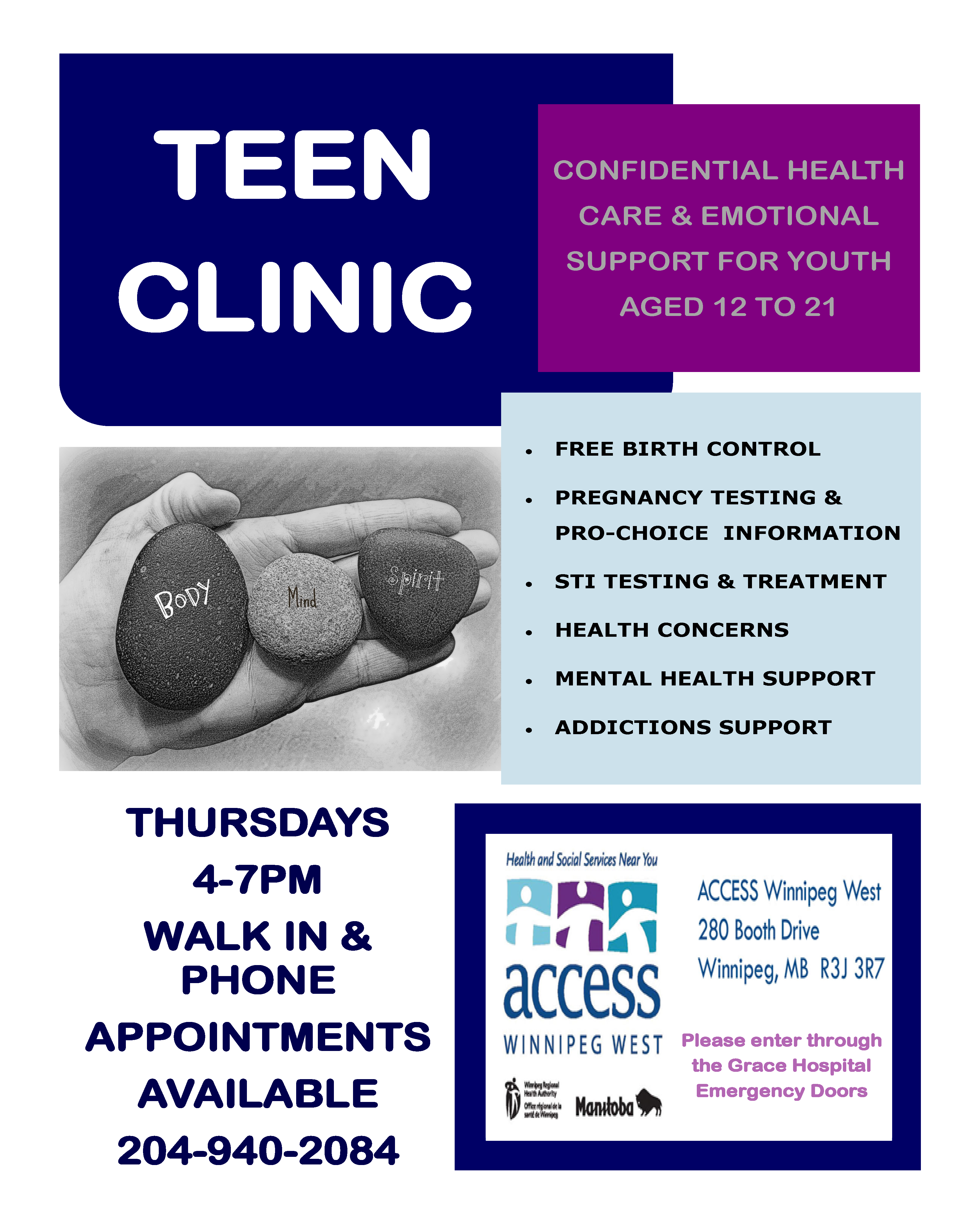 TEEN CLINIC POSTER - Full Page