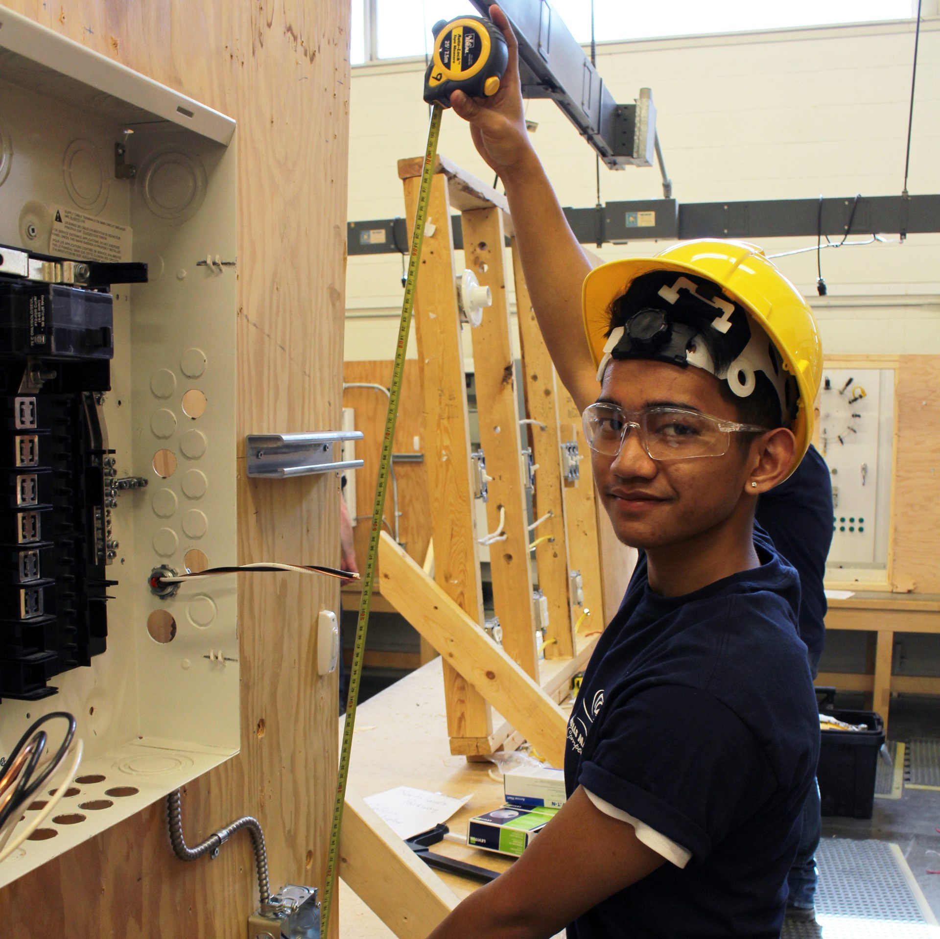 Jose Inoc at Skills Manitoba Competition during the Electrical Installation contest.jpg