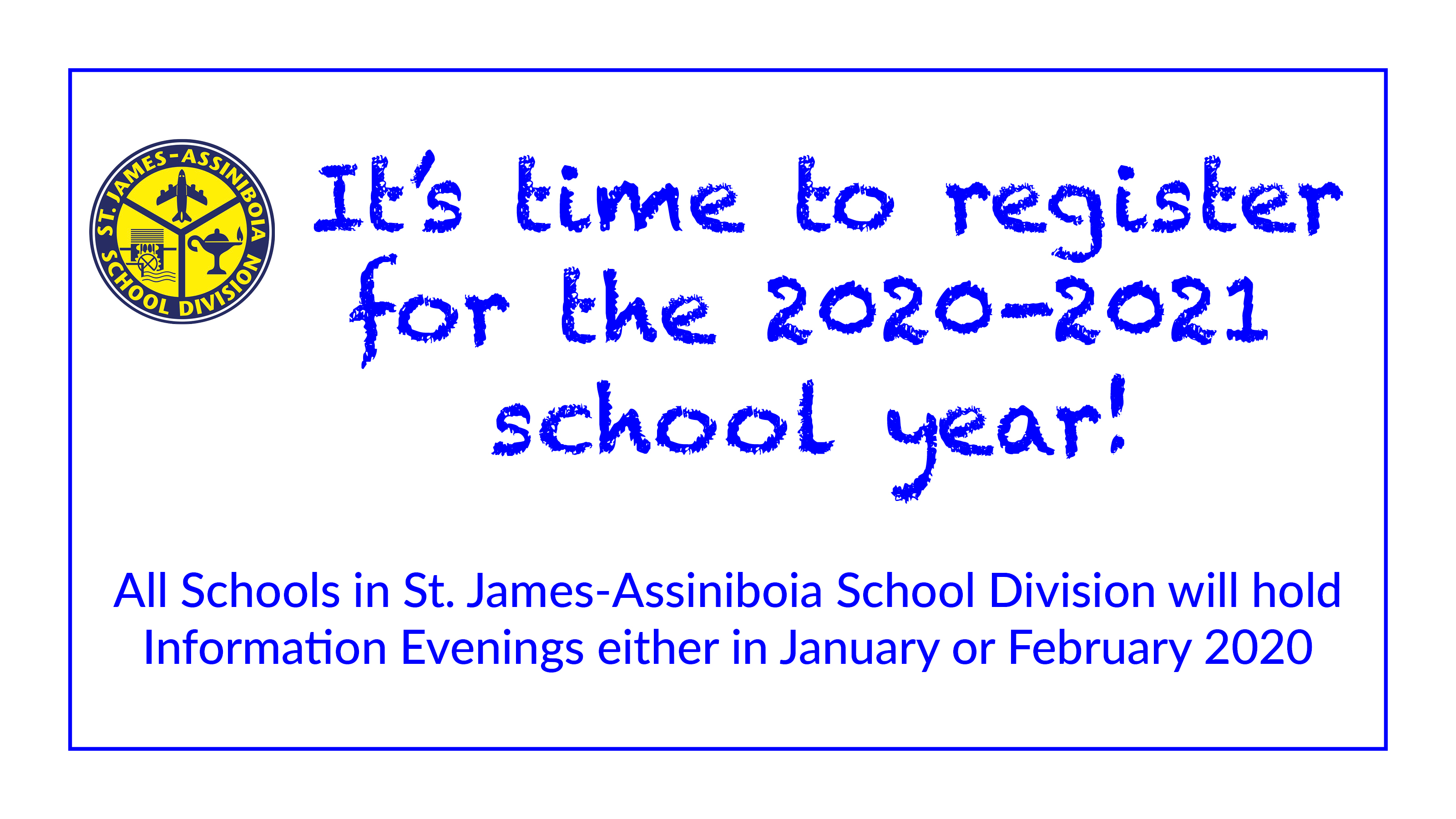 It's time to register for the 2020-2021 school year!